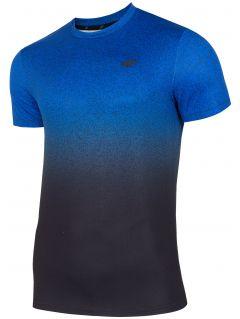 Pánske tréningové tričko TSMF208 - kobaltová modrá allover