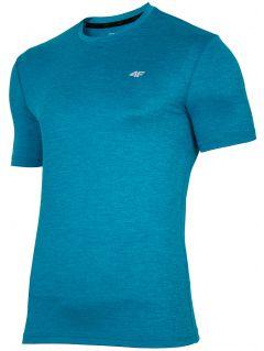 Pánske tréningové tričko TSMF301 - morská zelená melanž