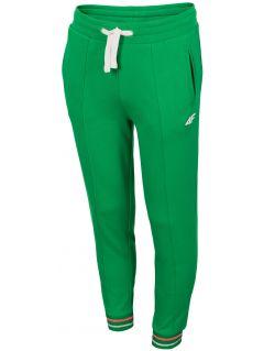 Teplákové nohavice pre dievčatá  (122-164) JSPDD200 – zelená