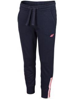 Teplákové nohavice pre dievčatá (122-164) JSPDD201 – tmavomodrá
