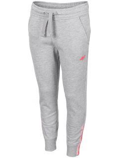 Teplákové nohavice pre dievčatá (122-164) JSPDD201A - šedá melanž