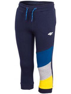 Teplákové nohavice pre chlapcov (98-116) JSPMD100 - tmavomodrá