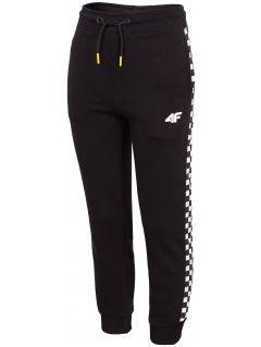 Teplákové nohavice pre chlapcov (122-164) JSPMD204 - čierna