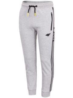 Teplákové nohavice pre chlapcov (122-164) JSPMD205 - šedá melanž