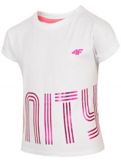 Tričko pre dievčatá (122-164) JTSD200 – biela