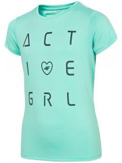 Športové tričko pre dievčatá (122-164) JTSD400A – mätová