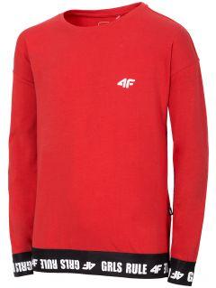 Tričko s dlhým rukávom  pre dievčatá (122-164) JTSDL203 – červená