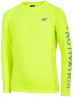 Športové tričko s dlhým rukávom pre chlapcov (122-164) JTSML400 - neónová zelená