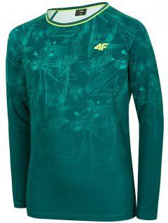 Športové tričko s dlhým rukávom pre chlapcov (122-164) JTSML401 - morská zelená