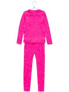 Bezšvové termoprádlo (horná+spodná časť) pre staršie deti (dievčatá) JBIDB400 – fuksiová