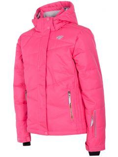 Lyžiarska bunda pre mladšie deti (dievčatá) JKUDN300 – fuksiová