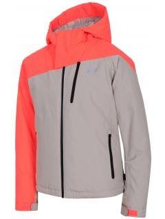 Lyžiarska bunda pre staršie deti (dievčatá) JKUDN402 - šedá