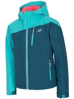 Lyžiarska bunda pre staršie deti (dievčatá) JKUDN402 - morská zelená