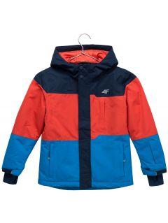 Lyžiarska bunda pre mladšie deti (chlapcov) JKUMN304 – tmavomodrá