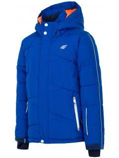 Lyžiarska bunda pre staršie deti (chlapcov) JKUMN400 – kobaltové