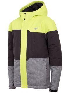 Lyžiarska bunda pre staršie deti (chlapcov) JKUMN408 - zelená