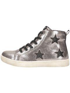 Jesenné topánky pre staršie deti (dievčatá) JOBDA200 – strieborná