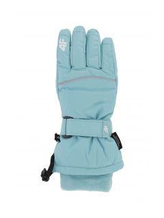Lyžiarske rukavice pre staršie deti (dievčatá) JRED402 – mätová