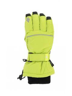 Lyžiarske rukavice pre staršie deti (chlapcov) JREM401 – zelená