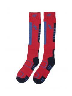 Lyžiarske ponožky pre staršie deti (chlapcov) JSOMN401 – červená
