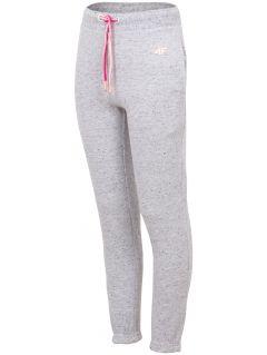 Teplákové nohavice pre mladšie deti (dievčatá)  JSPDD101 - svetlošedá melanž
