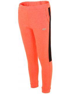 Teplákové nohavice pre staršie deti (dievčatá) JSPDD203 - neónová oranžová