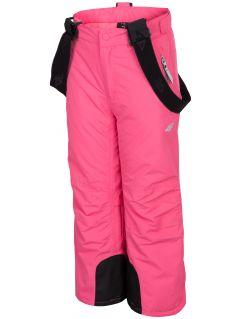 Lyžiarske nohavice pre mladšie deti (dievčatá)  JSPDN301 – fuksiová