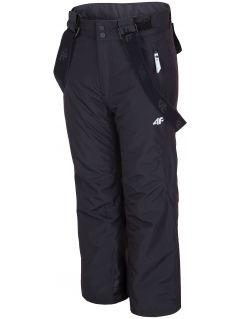 Lyžiarske nohavice pre staršie deti (dievčatá) JSPDN400 - čierna