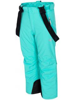 Lyžiarske nohavice pre staršie deti (dievčatá) JSPDN401 – mätová