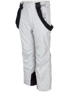 Lyžiarske nohavice pre staršie deti (dievčatá) JSPDN401A - šedá melanž