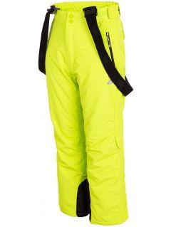Lyžiarske nohavice pre staršie deti  (chlapcov) JSPMN400 – zelená