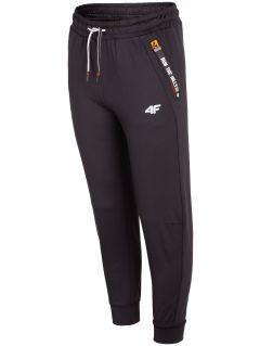 Športové nohavice pre staršie deti (chlapcov) JSPMTR404 – čierna