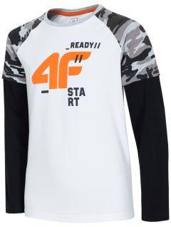 Tričko s dlhým rukávom pre staršie deti (chlapcov) JTSML219 – biela