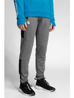 Pánske funkčné nohavice 4Hills SPMTR200 - stredne šedá melanž