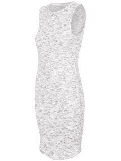 Dámske šaty SUDD445 - svetlošedá melanž