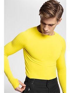 Pánske bezšvové prádlo (horná časť) BIMB260G – žltá