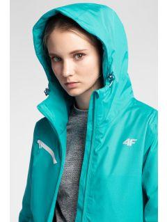 Dámska lyžiarska bunda KUDN302 - svetlotyrkysová