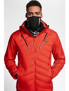 Pánska lyžiarska bunda KUMN150 – červená