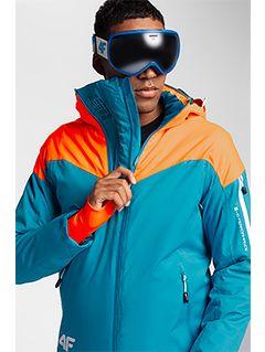 Pánska lyžiarska bunda KUMN152 – tyrkysová