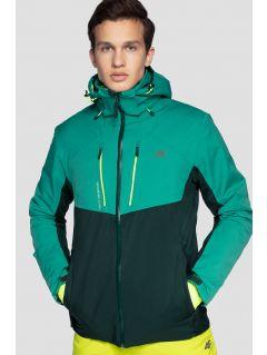 Pánska lyžiarska bunda KUMN258 - morská zelená