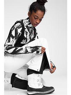 Dámske lyžiarske nohavice SPDN100 – biela