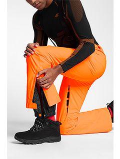 Pánske lyžiarske nohavice SPMN250 - neónová oranžová