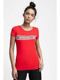 D4Z18-Dámske tréningové tričko TSDF152 – červenáTSDF152-62S