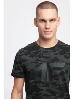 Pánske tričko TSM272 - čierna allover