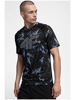 Pánske tréningové tričko TSMF150 - čierna allover