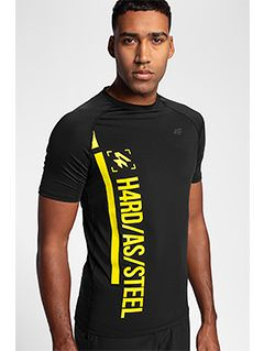 Pánske tréningové tričko TSMF152 - čierna allover