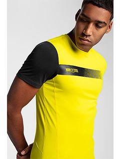 Pánske tréningové tričko TSMF156 – žltá
