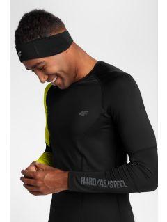 Pánske tréningové tričko s dlhým rukávom TSMLF152 - čierna allover