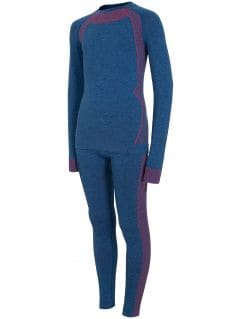 Bezšvové termoprádlo (horná+spodná časť) pre staršie deti (chlapcov)  JBIMB401 - kobaltová modrá