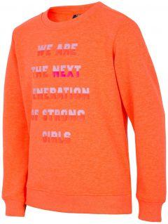 Mikina pre staršie deti (dievčatá) JBLD204 - oranžová neonová